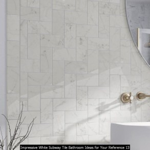 Impressive White Subway Tile Bathroom Ideas For Your Reference 13