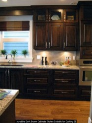 Incredible Dark Brown Cabinets Kitchen Suitable For Cooking 28