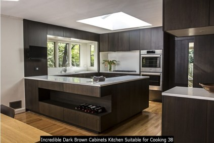 Incredible Dark Brown Cabinets Kitchen Suitable For Cooking 38