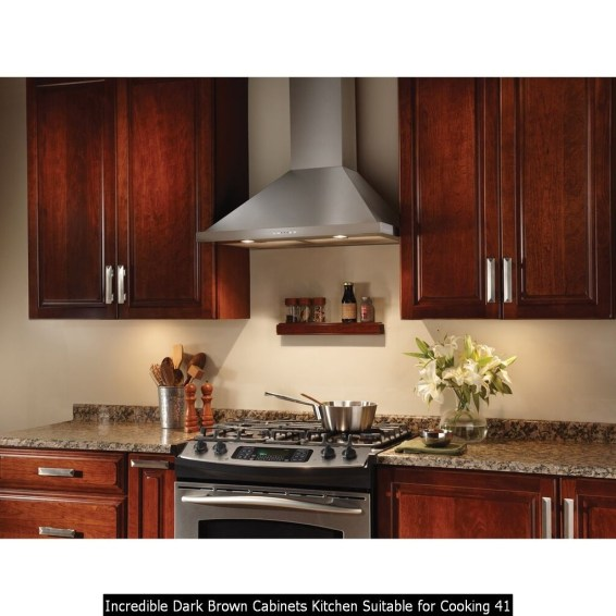 Incredible Dark Brown Cabinets Kitchen Suitable For Cooking 41