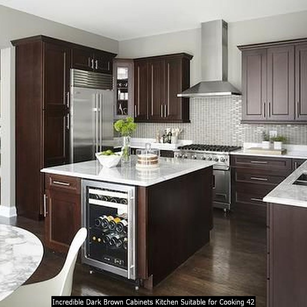 Incredible Dark Brown Cabinets Kitchen Suitable For Cooking 42