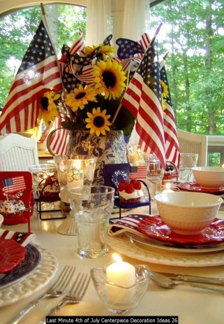 Last Minute 4th Of July Centerpiece Decoration Ideas 26