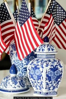 Last Minute 4th Of July Centerpiece Decoration Ideas 33