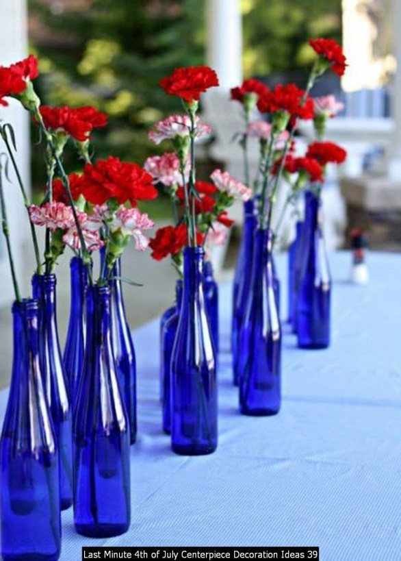 Last Minute 4th Of July Centerpiece Decoration Ideas 39
