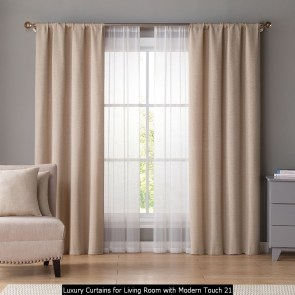 Luxury Curtains For Living Room With Modern Touch 21