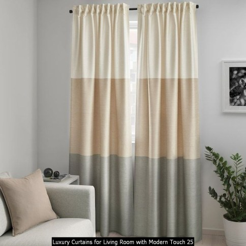 Luxury Curtains For Living Room With Modern Touch 25
