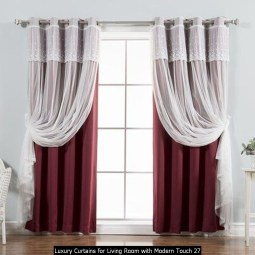 Luxury Curtains For Living Room With Modern Touch 27