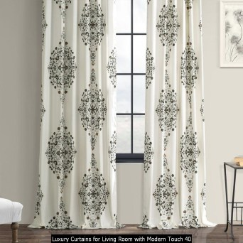 Luxury Curtains For Living Room With Modern Touch 40