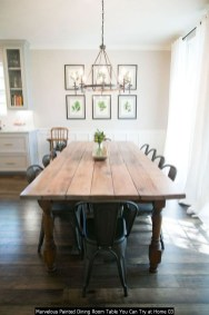 Marvelous Painted Dining Room Table You Can Try At Home 03