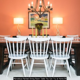 Marvelous Painted Dining Room Table You Can Try At Home 09