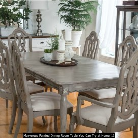 Marvelous Painted Dining Room Table You Can Try At Home 11