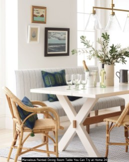 Marvelous Painted Dining Room Table You Can Try At Home 24