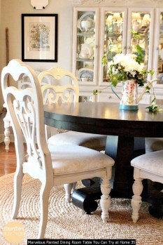 Marvelous Painted Dining Room Table You Can Try At Home 35
