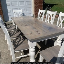 Marvelous Painted Dining Room Table You Can Try At Home 37