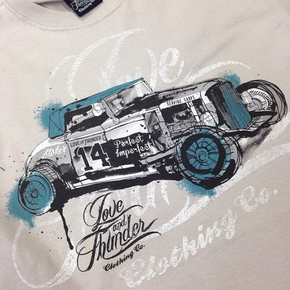 Pendine Sands Hotrod racer by Love and Thunder Clothing