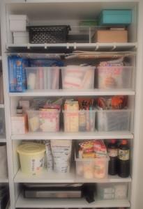 パントリー 収納 整理 すっきり 無印良品 ファイルボックス シンプル 片付け 食料品 ストック