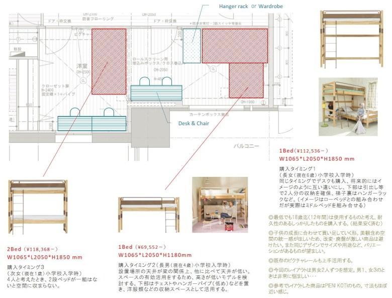 子供部屋 レイアウト こども 子ども アイディア 4人 収納 ベッド 配置 案 おすすめ スッキリ