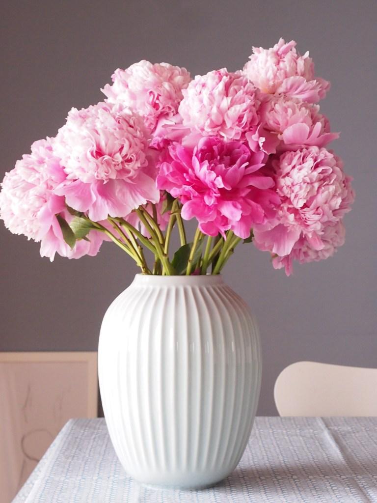 Kahler/ケーラーHammershøi/ハンマースホイ フラワーベース おしゃれ 北欧 花瓶 シンプル シャクヤク