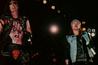 Alice Cooper and Axl Rose
