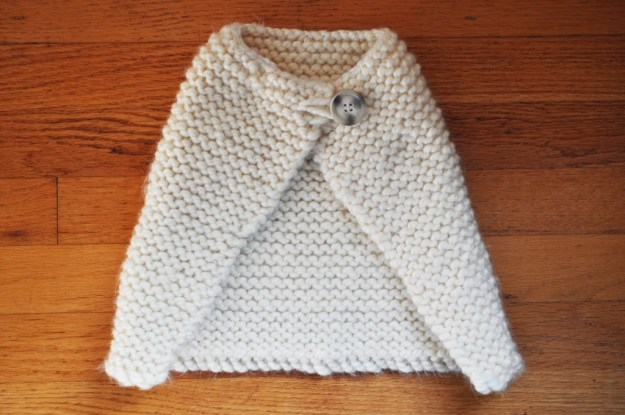 Knitted baby cape