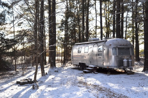 Airstream in winter