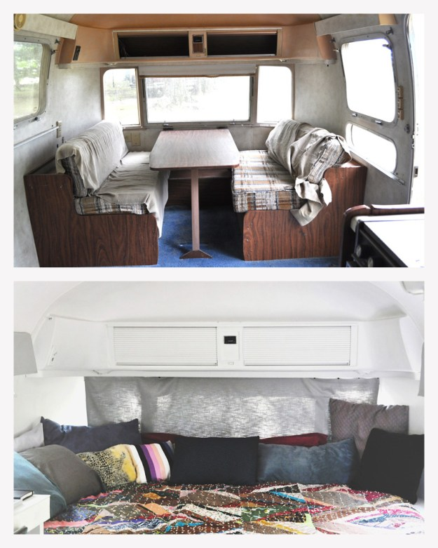 Airstream Bed Area Before and After copy