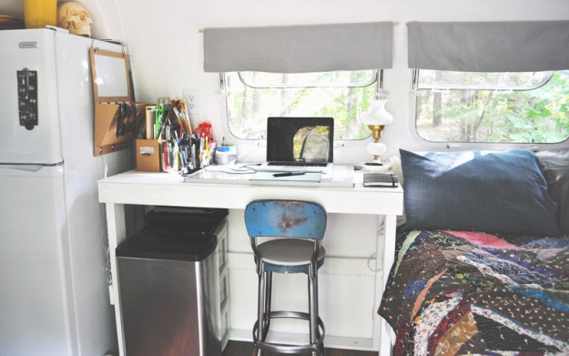 Desk in an Airstream