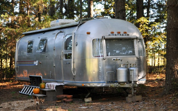 airstream in the fall light