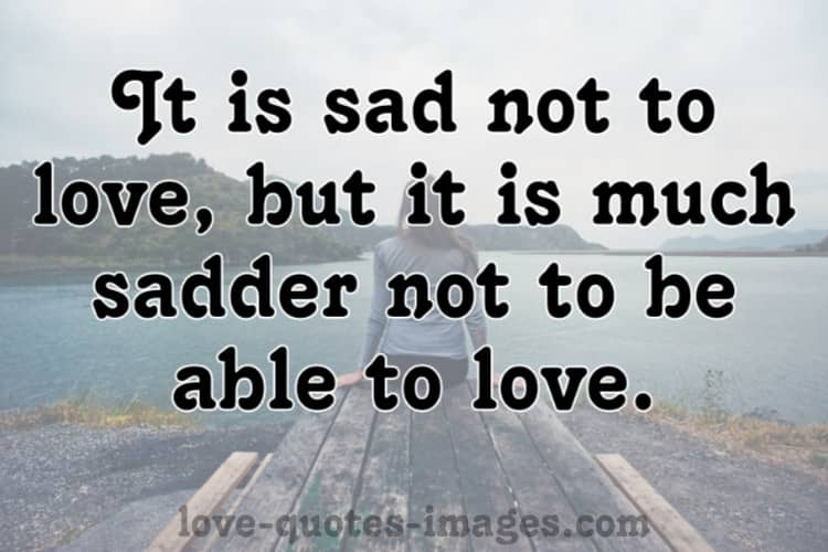 Sad Quotes About Love