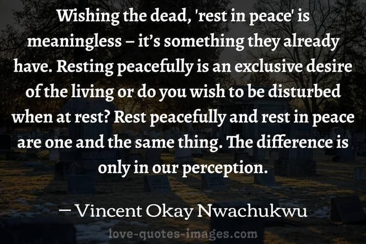 rest in peace quotes in english