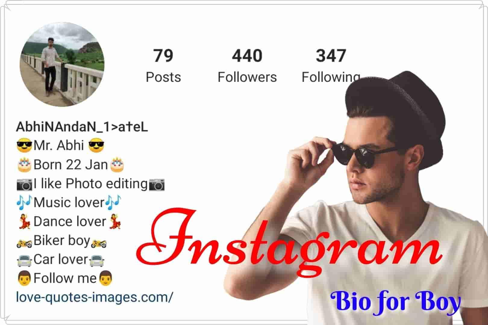Bio for Instagram for boys