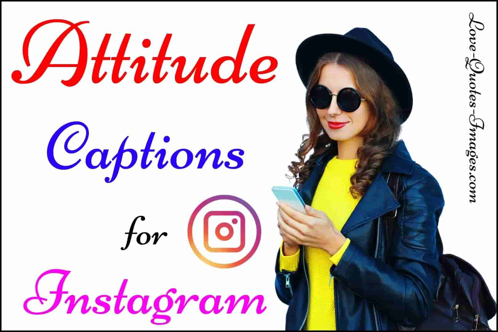 Attitude Caption for Instagram