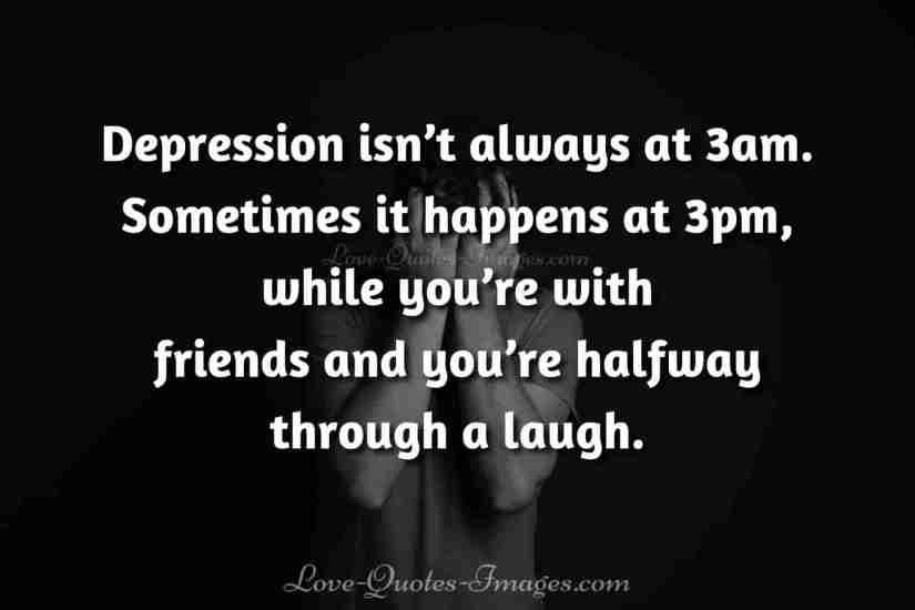 sad depression quotes about love