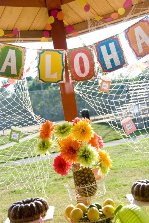 Luau Party Ideas by Lindi Haws of Love The Day
