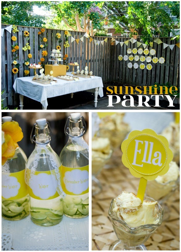 Our Little Sunshine Party by Love The Day