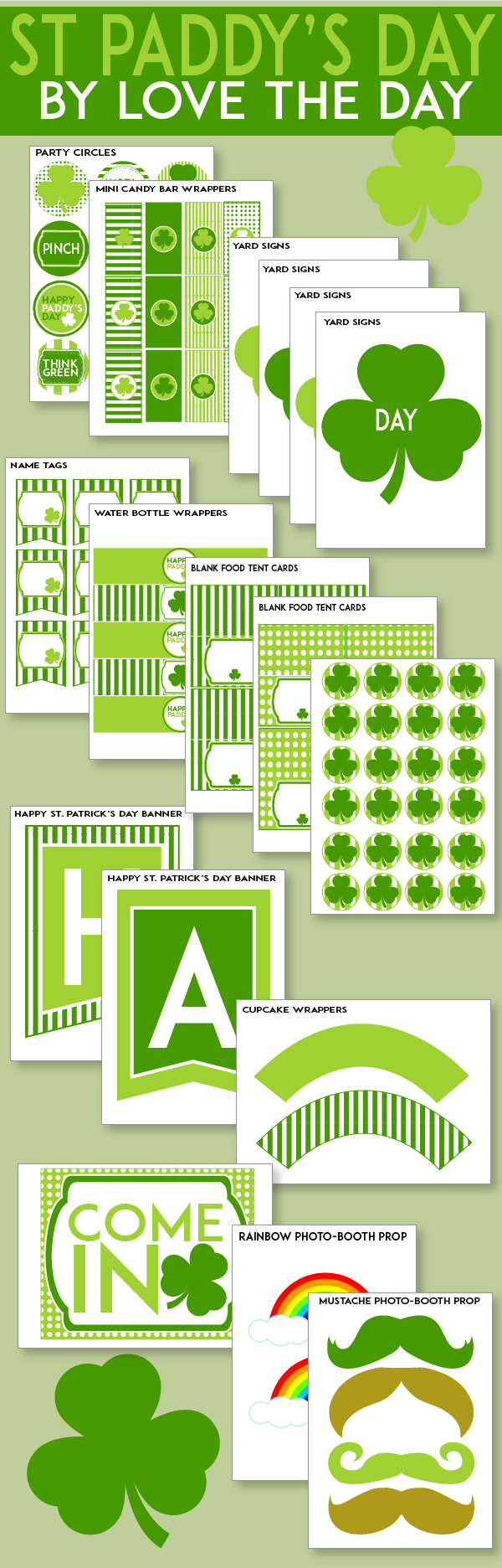 free st patrick u0027s day printables by love the day
