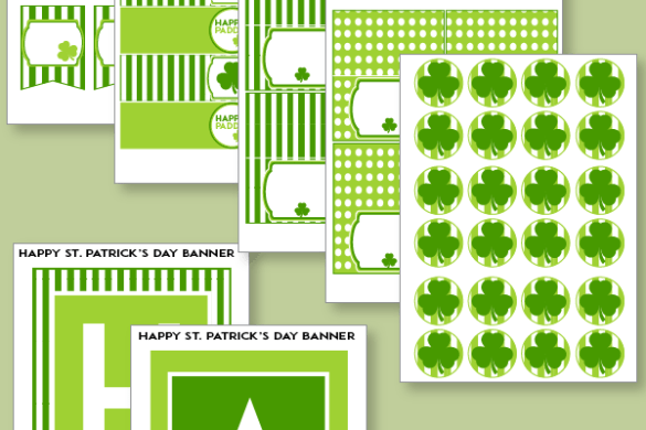 FREE St. Patrick's Day Printable Party by Love The Day