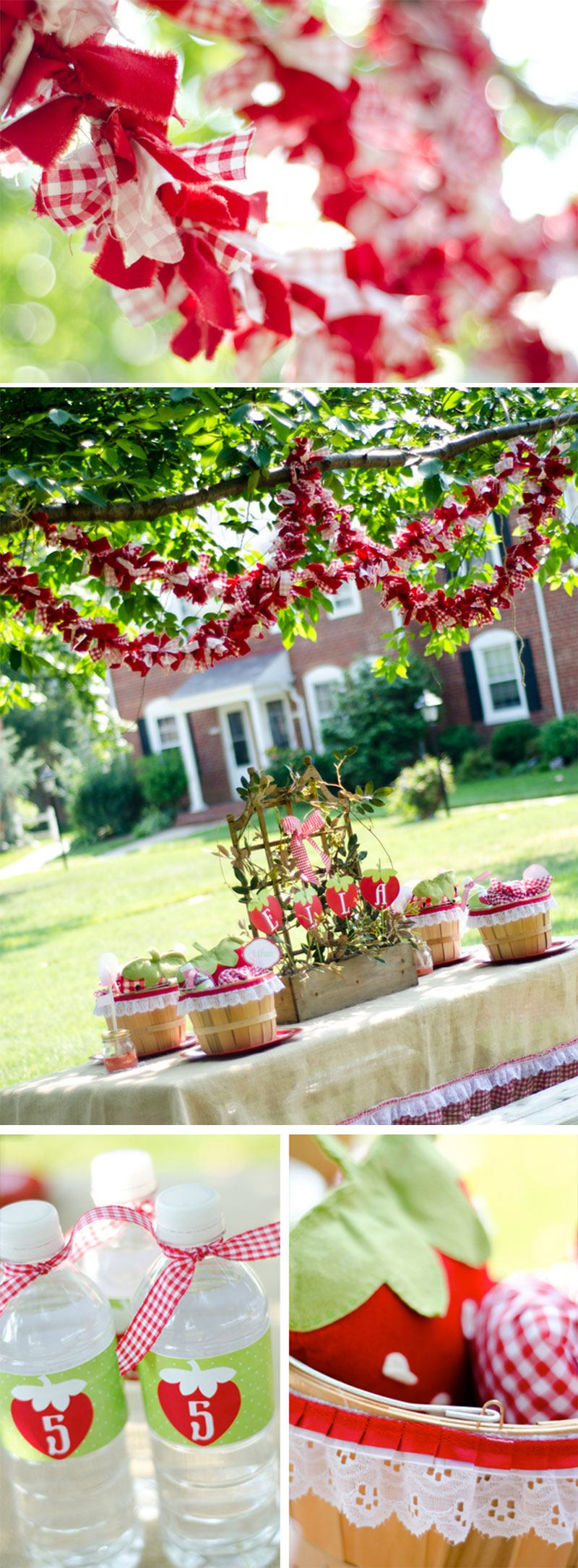 Strawberry Party Ideas by Lindi Haws of Love The Day