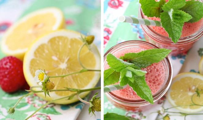 Fresh Pressed Strawberry Lemonade on Love The Day