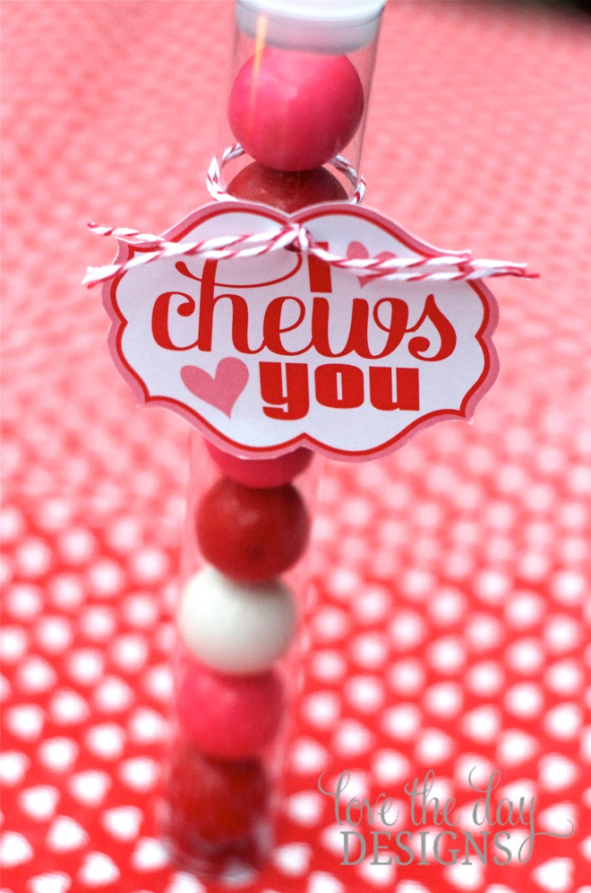 I Chews You DIY Valentine Tag by Love The Day