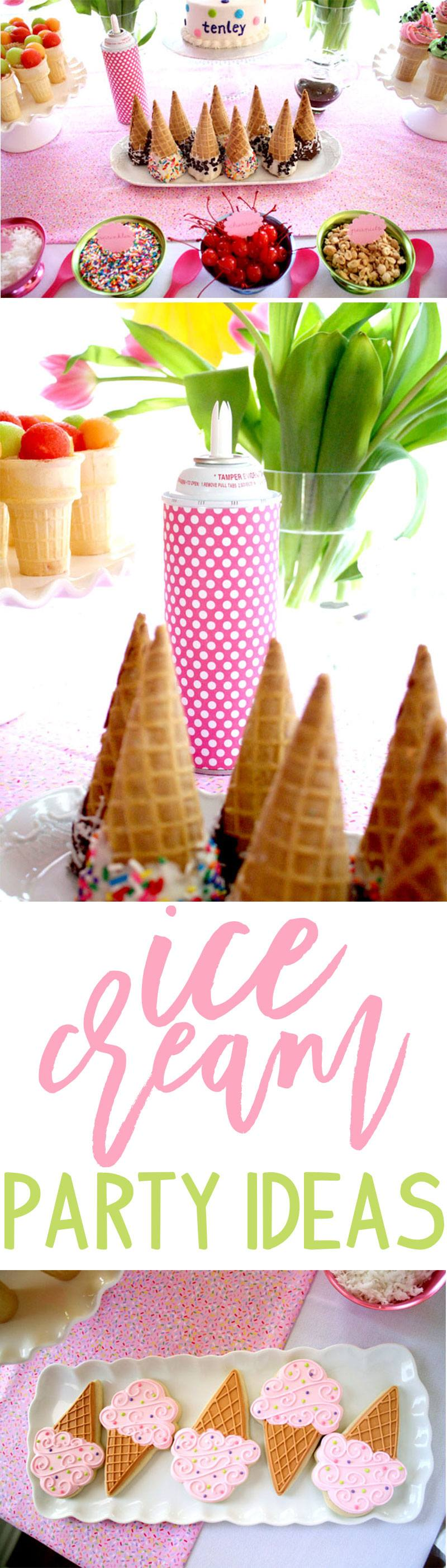 Ice Cream Party Ideas on Love The Day