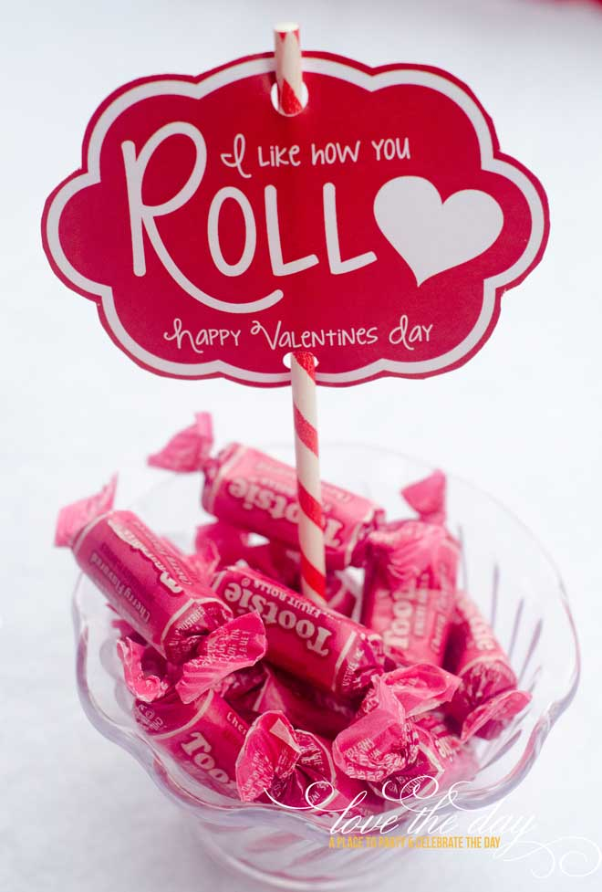 'I Like How You Roll' DIY Valentine Printable & Idea by Love The Day