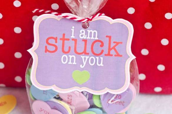 'I'm Stuck On You' Valentine Tag & Idea by Love The Day