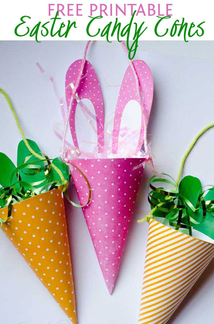 FREE Printable Easter Candy Cones by Love The Day