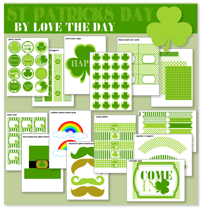 FREE Printable Shamrock Rainbow Wands