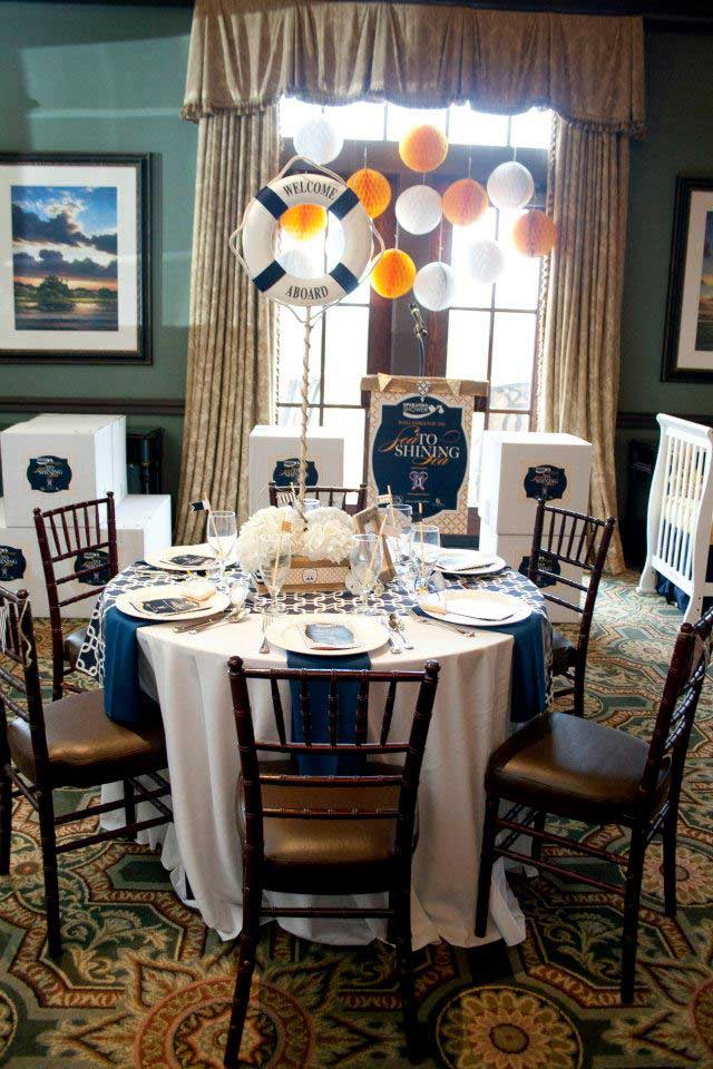 A nautical themed baby shower hosted by Operation Shower.