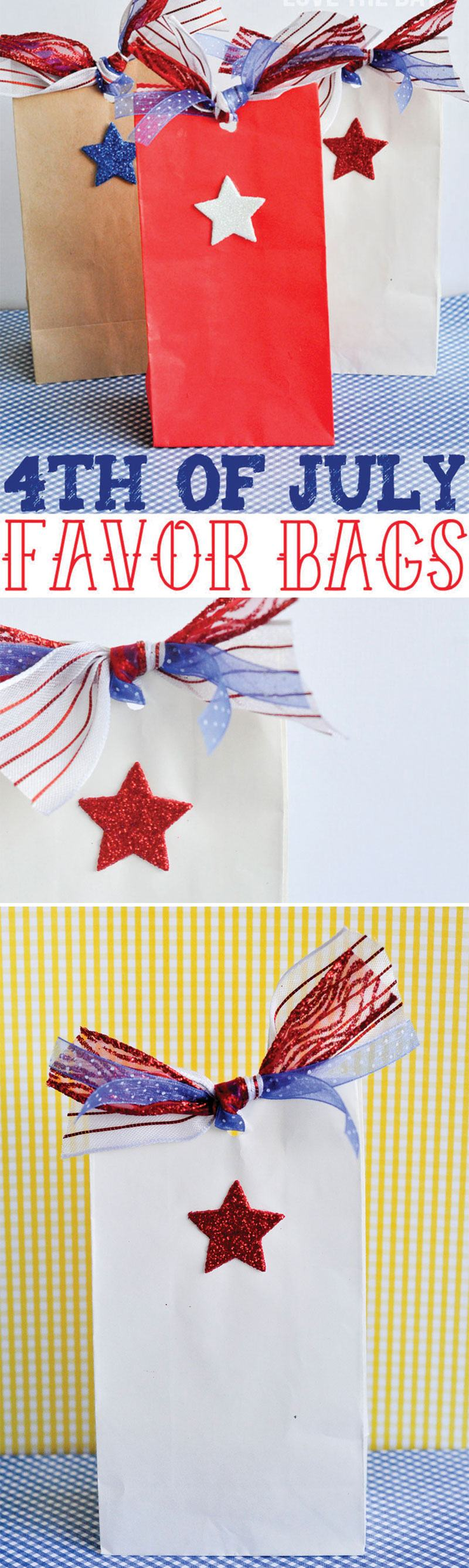 4th Of July Favor Bags by Lindi Haws of Love The Day