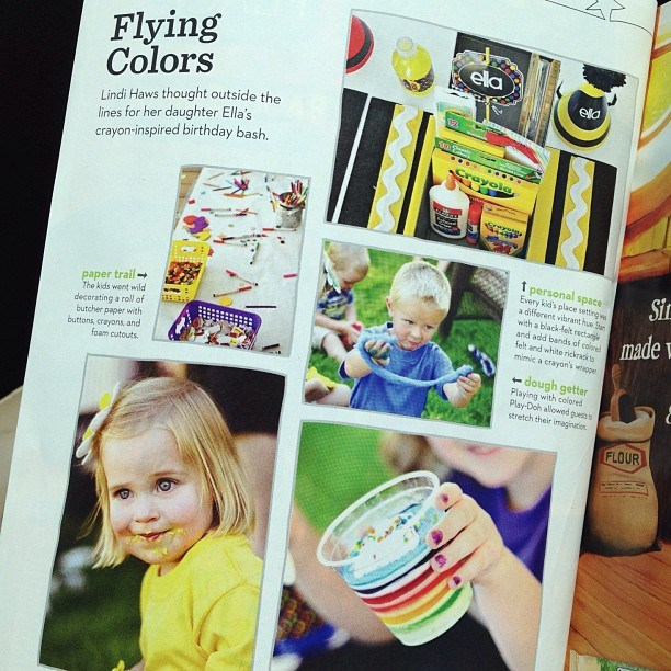 Crayon Party Feature in Parents Magazine