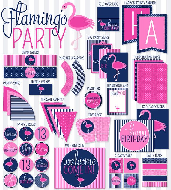 Flamingo Party Printables by Love The Day