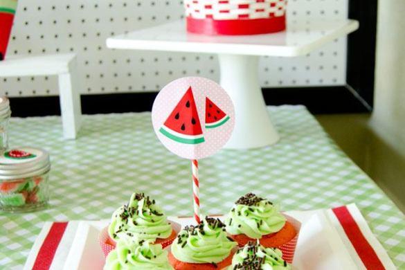 Watermelon Party Dessert Table